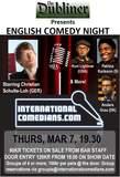 Copenhagen - English Stand-up Comedy Night @ Dubliner, Thurs, Mar 7