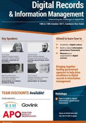 Digital Records & Information Management Canberra October 2017