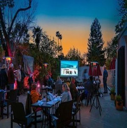 Dinner and a Movie Under the Stars