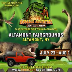 Dinosaur Adventure Drive-Thru Albany, Ny
