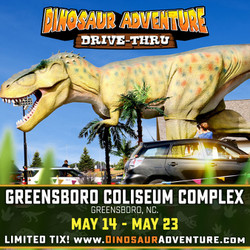 Dinosaur Adventure Drive-Thru Greensboro, Nc