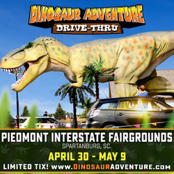 Dinosaur Adventure Drive-Thru Greenville-Spartanburg, Sc