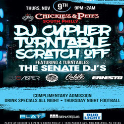 Dj Cypher Turntable Scratch Off Free Beer Event