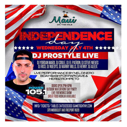 Dj Prostyle at Maui on the Mile July 4th Party 2018