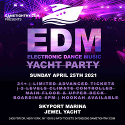 Edm Techno House Sunday Sunset Yacht Party Cruise at Skyport Marina Jewel Yacht 2021