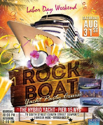 End of Summer Rock The Boat Yacht Party Cruise Nyc Labor Day Weekend Nyc 2019
