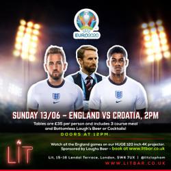 England vs Croatia at Lit Clapham - Euro 2020