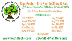Erie Reptile Show and Sale Feb 21st 2021