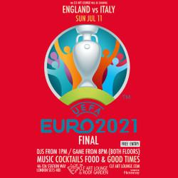 Euros 2021 Final - England vs Italy (Free Entry)