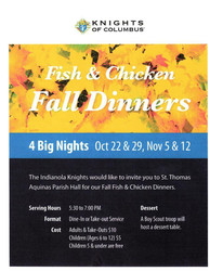 Fall Fish and Chicken Dinners