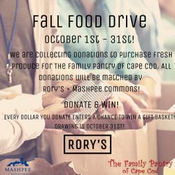 Fall Food Drive at Rory's Market