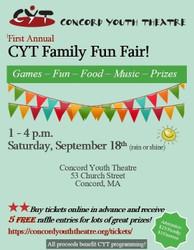 Family Fun Fair - Concord Youth Theatre