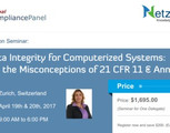 Fda Data Integrity for Computerized Systems 2017   21 Cfr 11