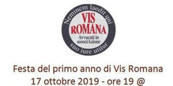 Festa per il primo anno di Vis Romana