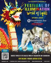 Festival of Illumination World of Lights at Southwick's Zoo