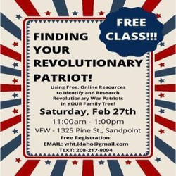 Finding Your Revolutionary Patriot