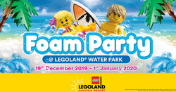 First-ever Foam Party @ Water Park at Legoland Malaysia Resort This Christmas