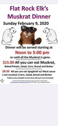 Flat Rock Elks Muskrat Dinner