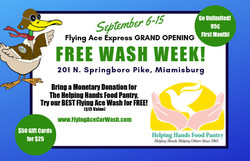 Flying Ace Express Miamisburg Grand Opening Free Wash Week!