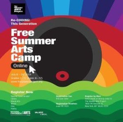 Free 3 1/2 Weeks Summer Arts Camp for Kids Ages 6-17 Registration fee only $15.