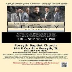 Free Concert with Nashville-based Quartet, New Legacy, at Forsyth Baptist CHurch