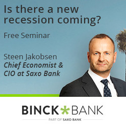 Free Seminar With Steen Jakobsen: 'is There A New Recession Coming?'