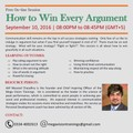 "Free Webinar on ""How to win every Argument"""