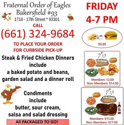 Friday Night Dinner at the Eagles