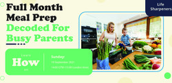 Full Month Meal Prep Decoded For Busy Parents