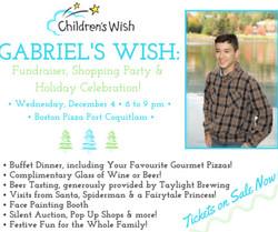 Gabriel's Wish: Fundraiser & Holiday Celebration!