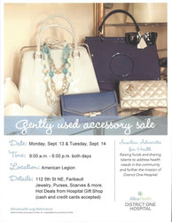 Gently Used Accessory Sale - District One Hospital Auxiliary