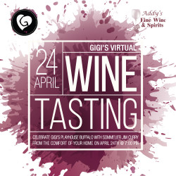 Gigi's Virtual Wine Tasting Event
