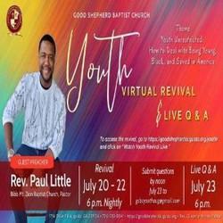 Good Shepherd Baptist Church Virtual Youth Revival