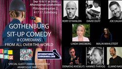 Grand Return of Gothenburg English Comedy Night, two showtimes sept 10 and 11
