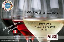 Great Spanish Wines & Peruvian Tapas Evening (Friday, October 1st)