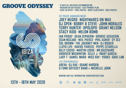 Groove Odyssey Ibiza 2020 Ft Joey Negro, Nightmares On Wax, Dj Spen + more