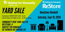 Habitat for Humanity of Greater Lowell Yard Sale for Charity