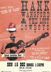 Hank Wangford & The Lost Cowboys: Sunday Lunch at Half Moon Putney 15th Dec