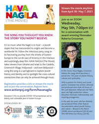 Hava Nagila (The Movie) & Talk w/ Director Roberta Grossman (5/5@7pm Est) + (Stream -movie 4/30-5/7)