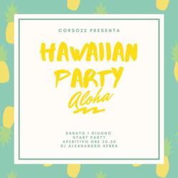 Hawaiian Party in terrazza. Aperitivo e dj set.