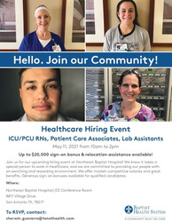 Healthcare Hiring Event – 5/11 | Northeast Baptist Hospital