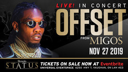 Hip Hop Superstar Offset from Migos Nov 27th