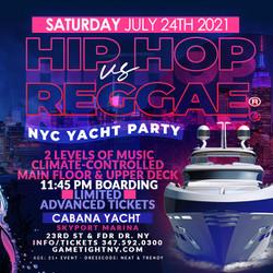 Hip Hop vs Reggae® Nyc Midnight Cruise Skyport Marina Cabana Yacht
