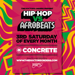 Hip-hop vs Afrobeats @ Concrete Shoreditch - Sat 15th August