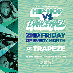 Hip-hop vs Dancehall @ Trapeze Basement, Friday 9th October