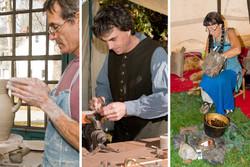 Historic Trade Demonstrations: Stoneware Pottery, Gunsmithing, Bark Basket Making