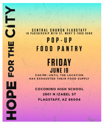 Hope For The City - Pop-up Food Pantry