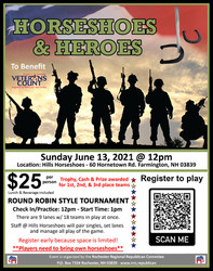 Horsehoes and Heroes - Player Registration
