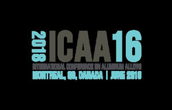Icaa16 International Conference on Aluminum Alloys, Montreal, June 2018