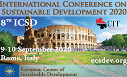 Icsd 2020 : 8th International Conference on Sustainable Development, 9 - 10 September Rome, Italy
